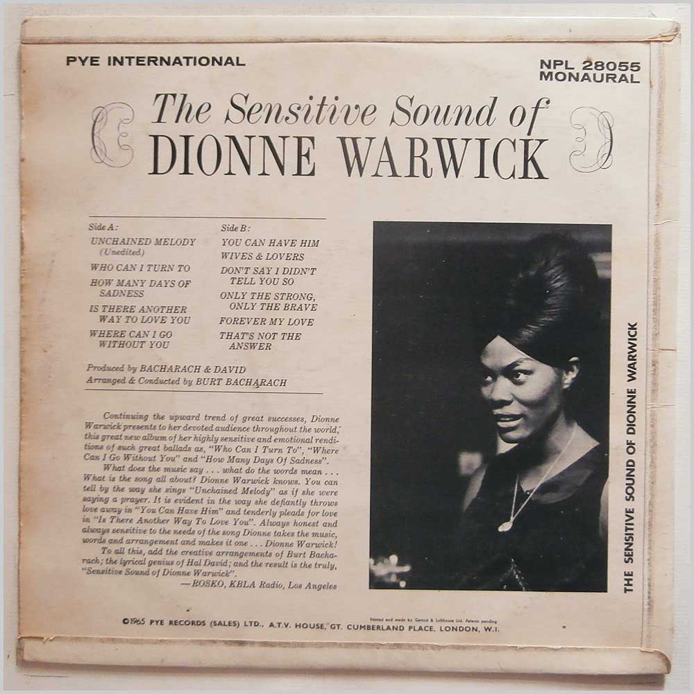 Dionne Warwick - The Sensitive Sound Of Dionne Warwick (NPL 28055)