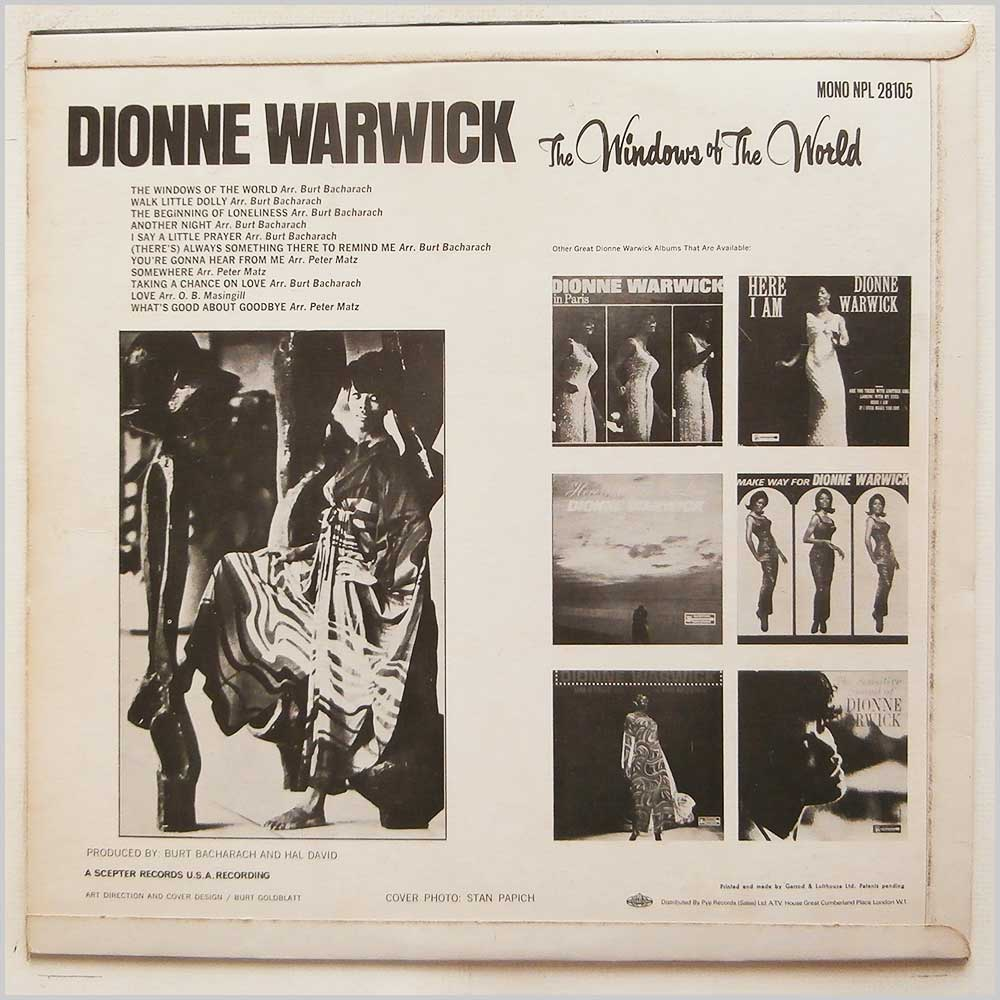 Dionne Warwick - The Windows Of The World (NPL 28105)