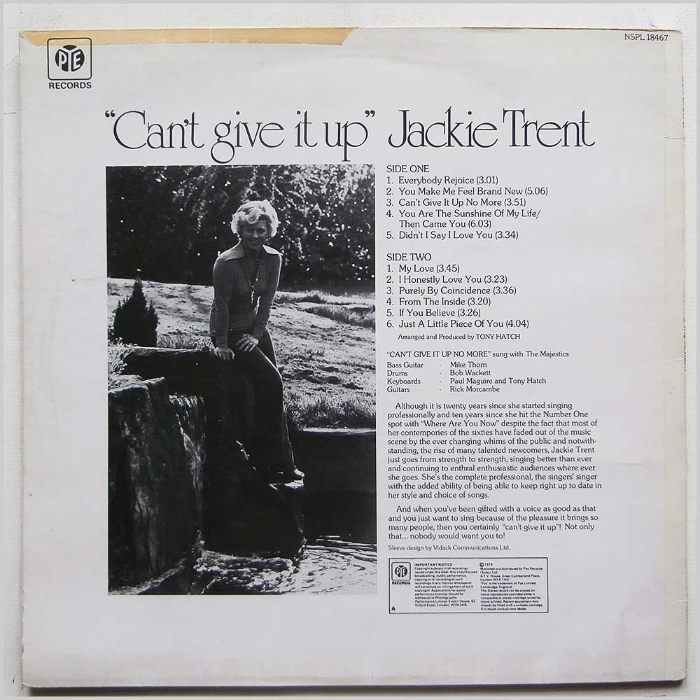 Jackie Trent - Can't Give It Up (NSPL 18467)