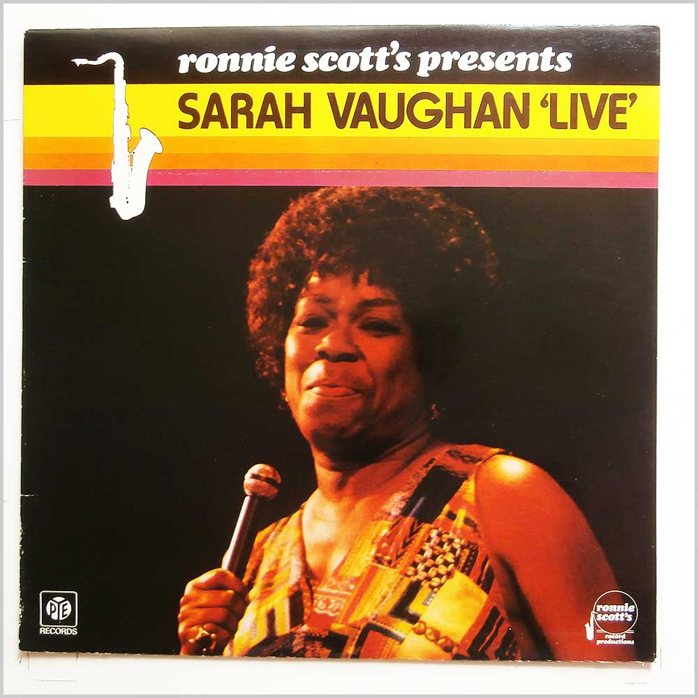 Sarah Vaughan - Ronnie Scott's Presents Sarah Vaughn Live (NSPL 18544)