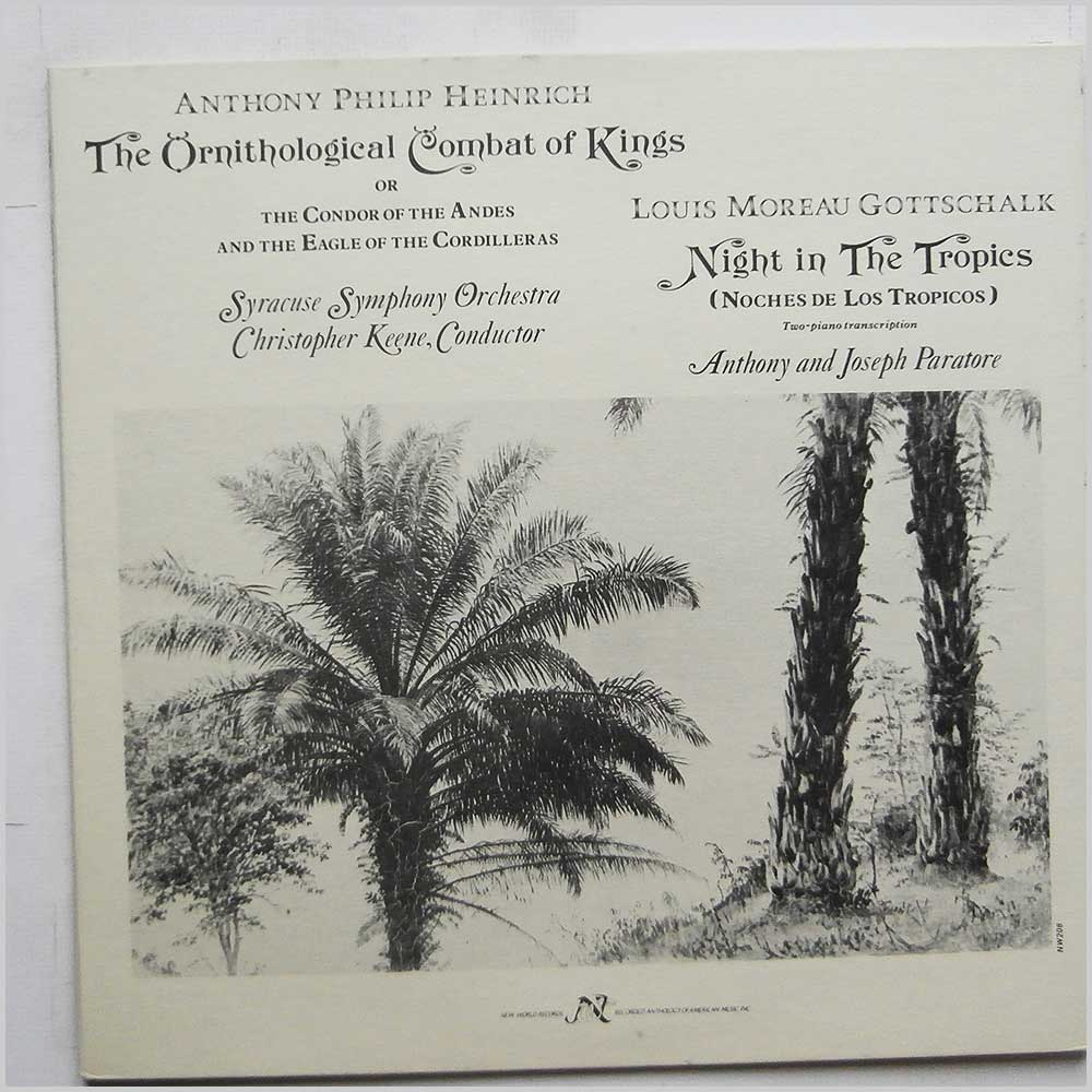 Anthony Philip Heinrich, Louis Moreau Gottschalk - The Ornithological Combat Of Kings: Night In The Tropics (NW 208)
