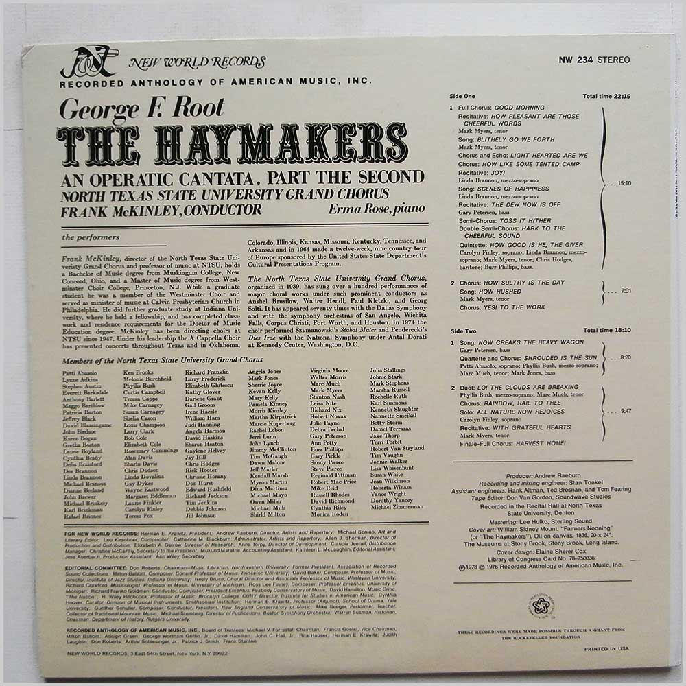 George F. Root - The Haymakers: An Operatic Cantata, Part The Second (NW 234)