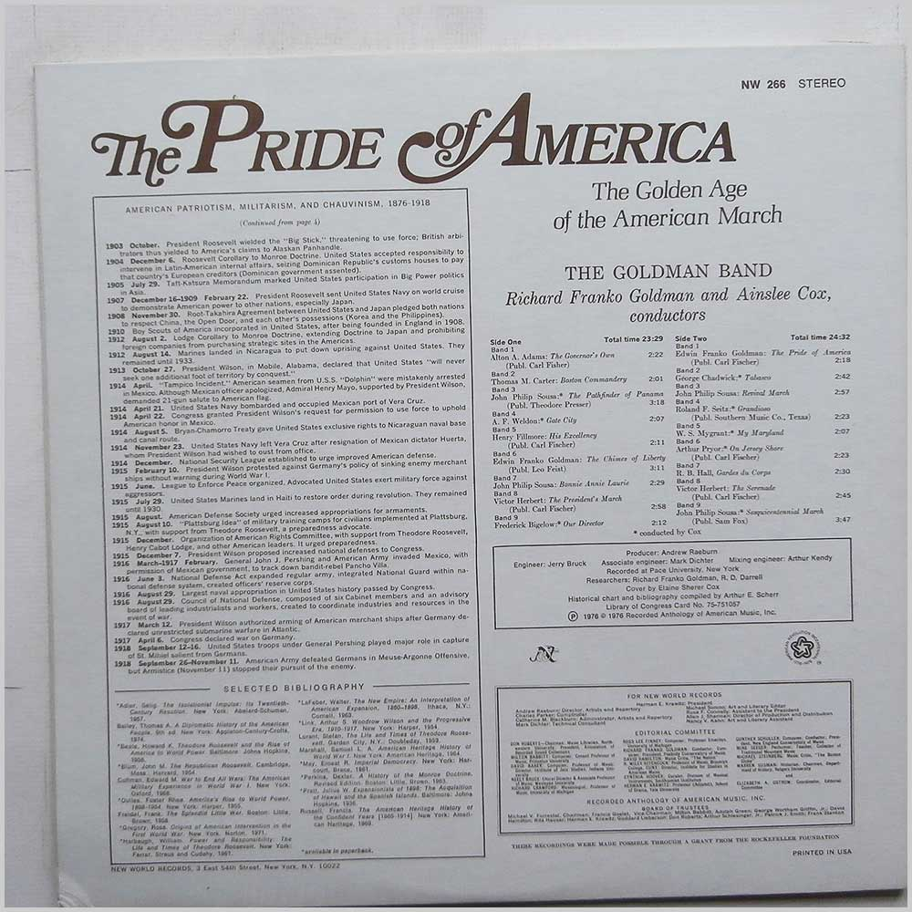 The Goldman Band - The Pride Of America: The Golden Age Of The American March (NW 266)