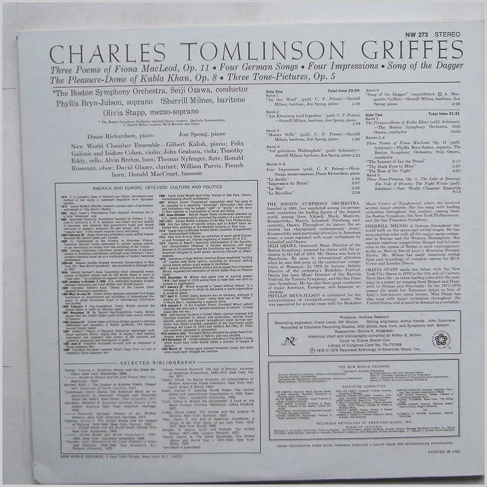 Charles Tomlinson - Charles Tomlinson Griffes (NW 273)