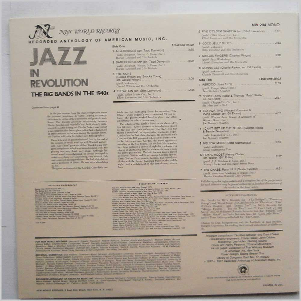Various - Jazz in Revolution: The Big Bands in the 1940s (NW 284)