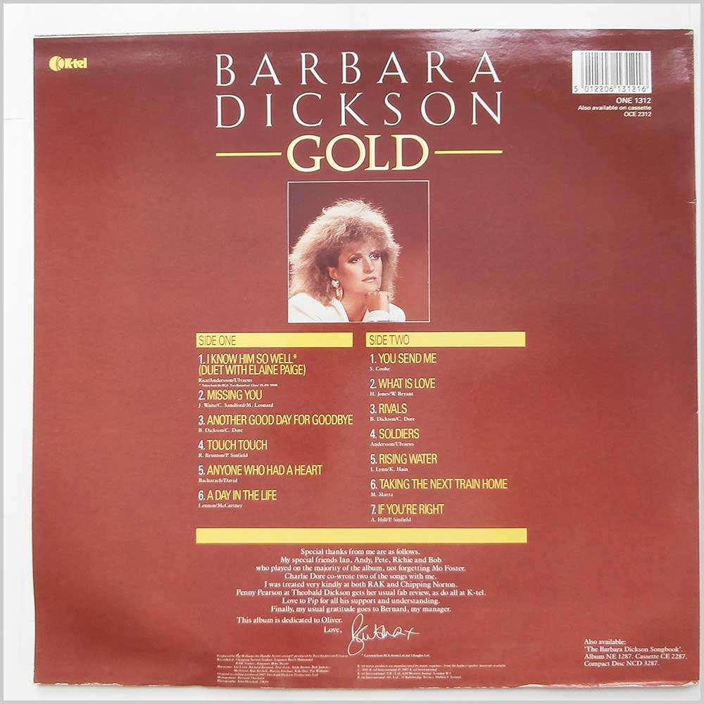 Barbara Dickson - Gold (ONE 1312)