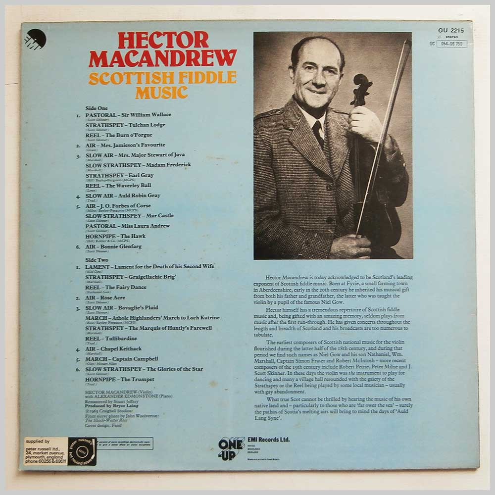 Hector MacAndrew - Scottish Fiddle Music (OU 2215)