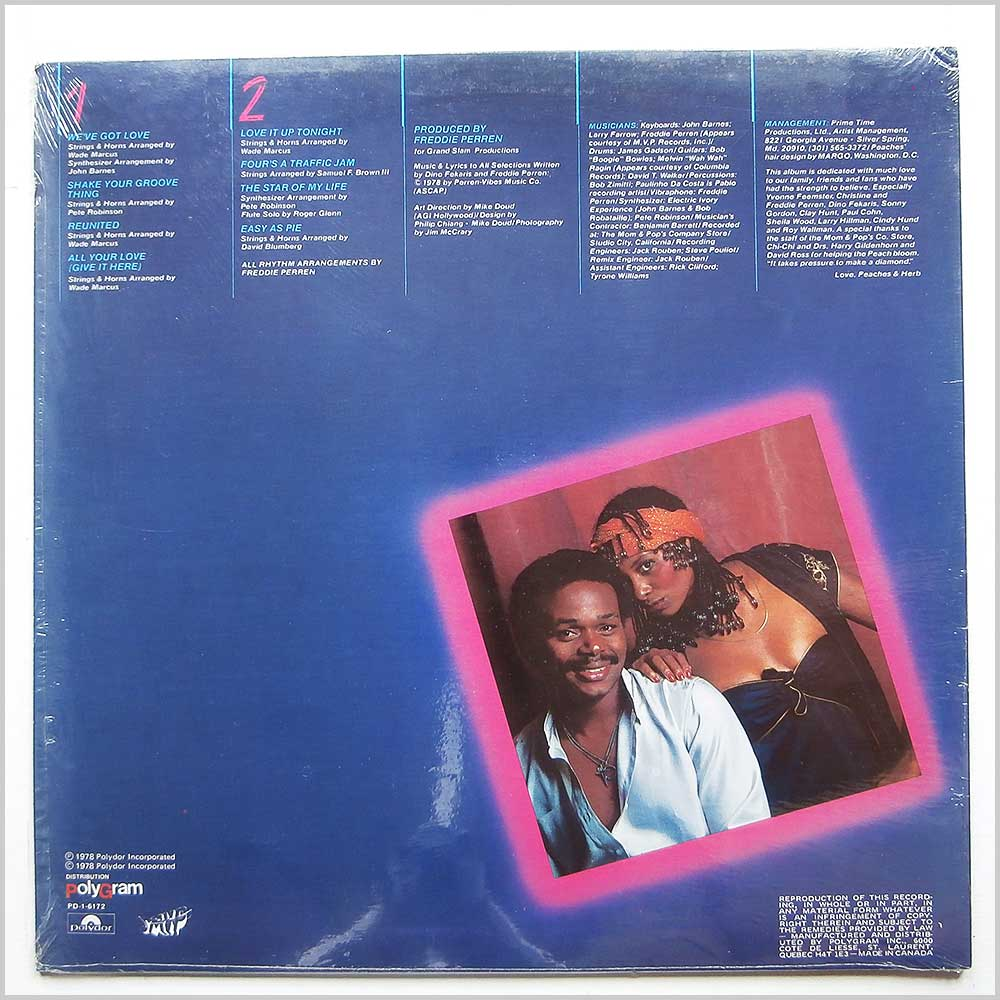 Peaches And Herb - 2 Hot! (PD-1-6172)