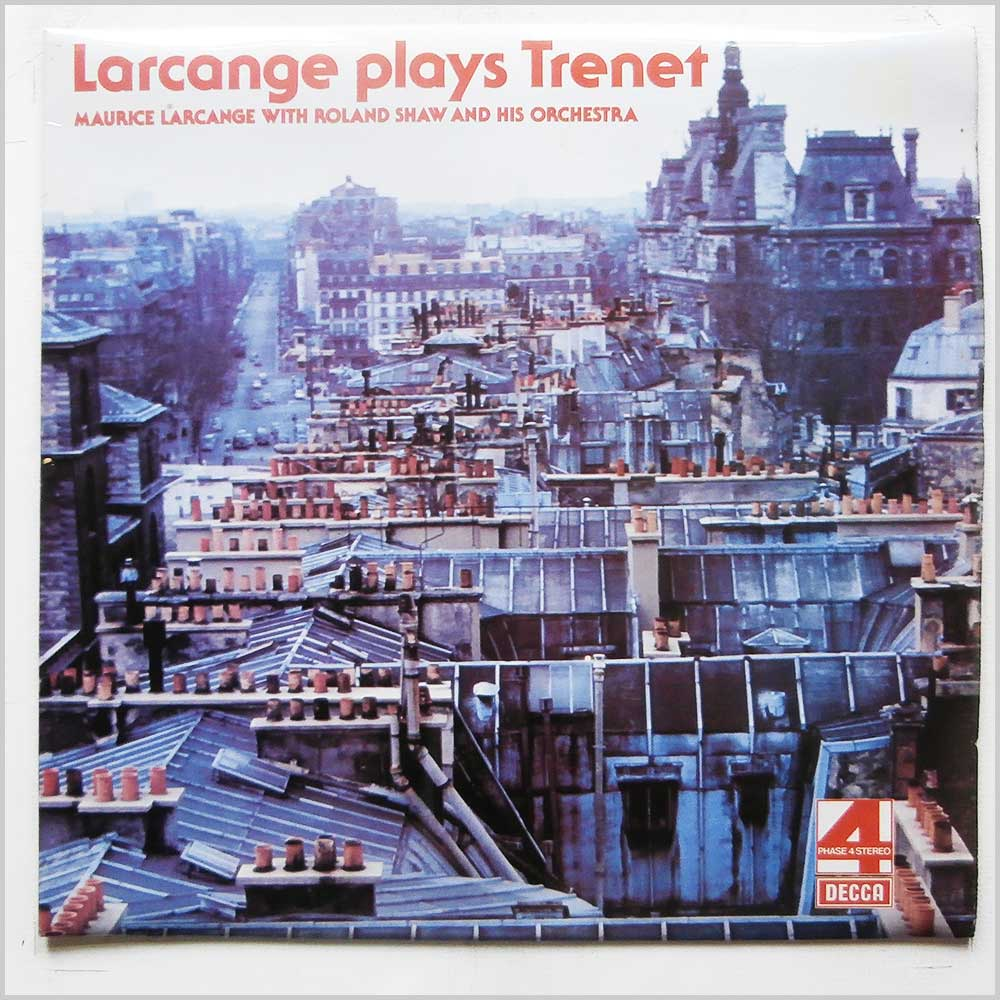 Maurice Larcange, Roland Shaw and His Orchestra - Larcange Plays Trenet (PFS 4403)