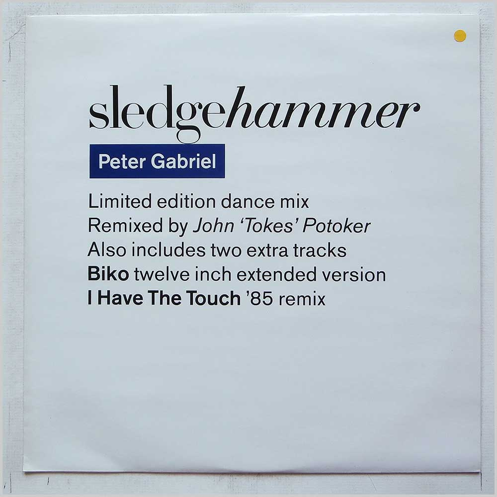 Peter Gabriel - Sledgehammer (Limited Edition Dance Mix) (PGS 113)