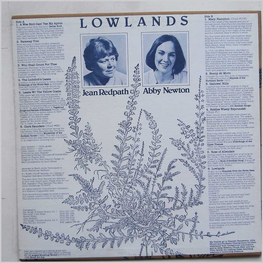 Jean Redpath - Lowlands (PH 1066)