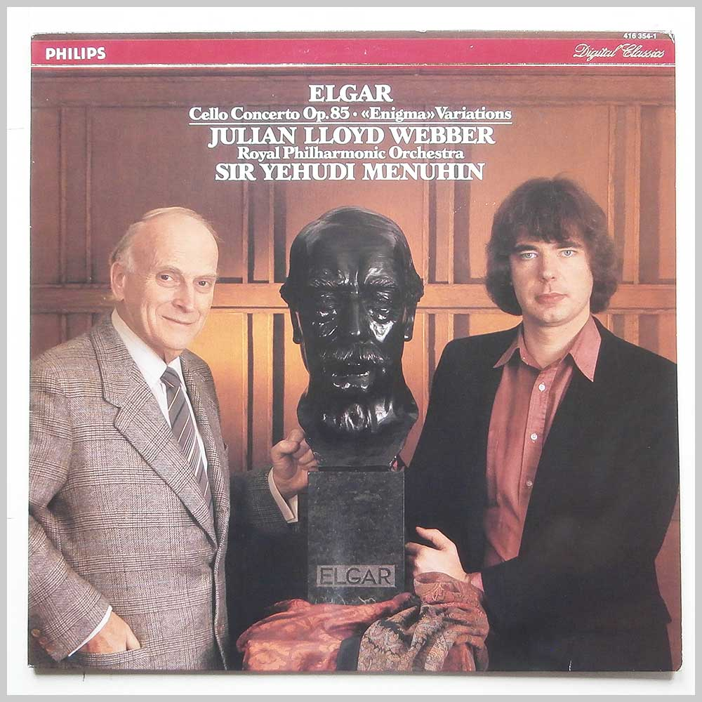 Lloyd Webber, Royal Philharmonic Orchestra, Sir Yehudi Menuhin - Elgar: Cello Concerto Op.85, Enigma Variations (PHILIPS 416 354-1)
