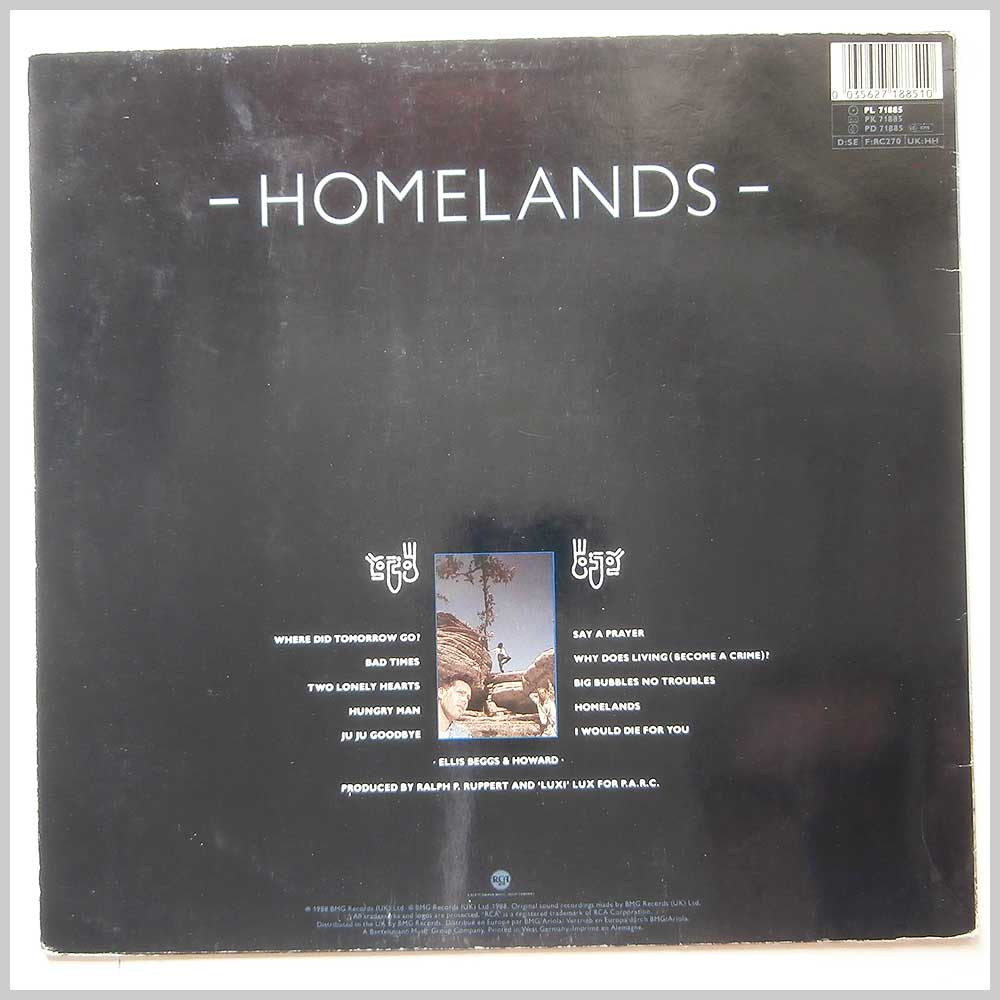 Ellis Beggs And Howard - Homelands (PL 71885)