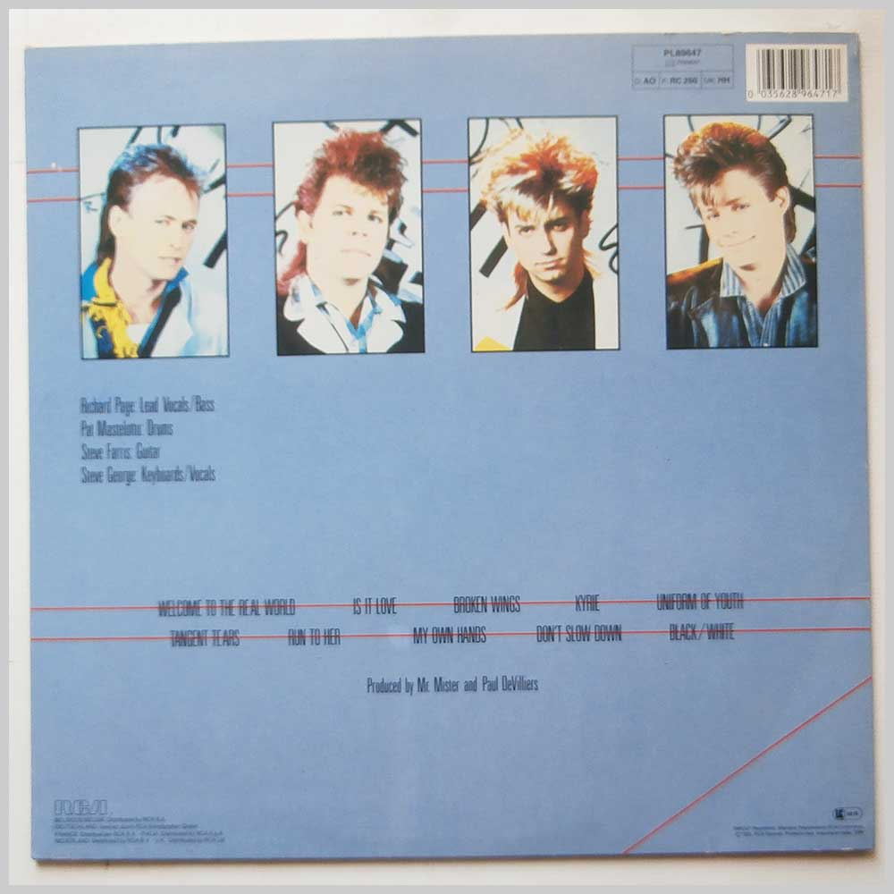 Mr. Mister - Welcome To The Real World (PL89647)
