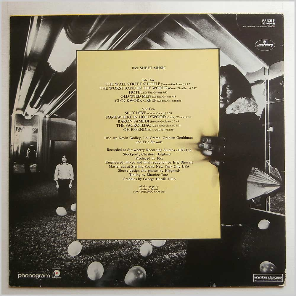 10cc - Sheet Music (PRICE 8)