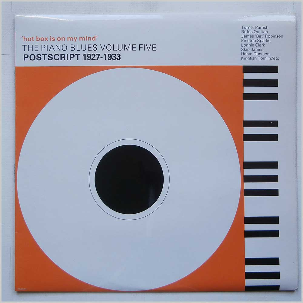 Various - Hot Box Is On My Mind: The Piano Blues Volume 5: Postscript 1927-1933 (PY4405)