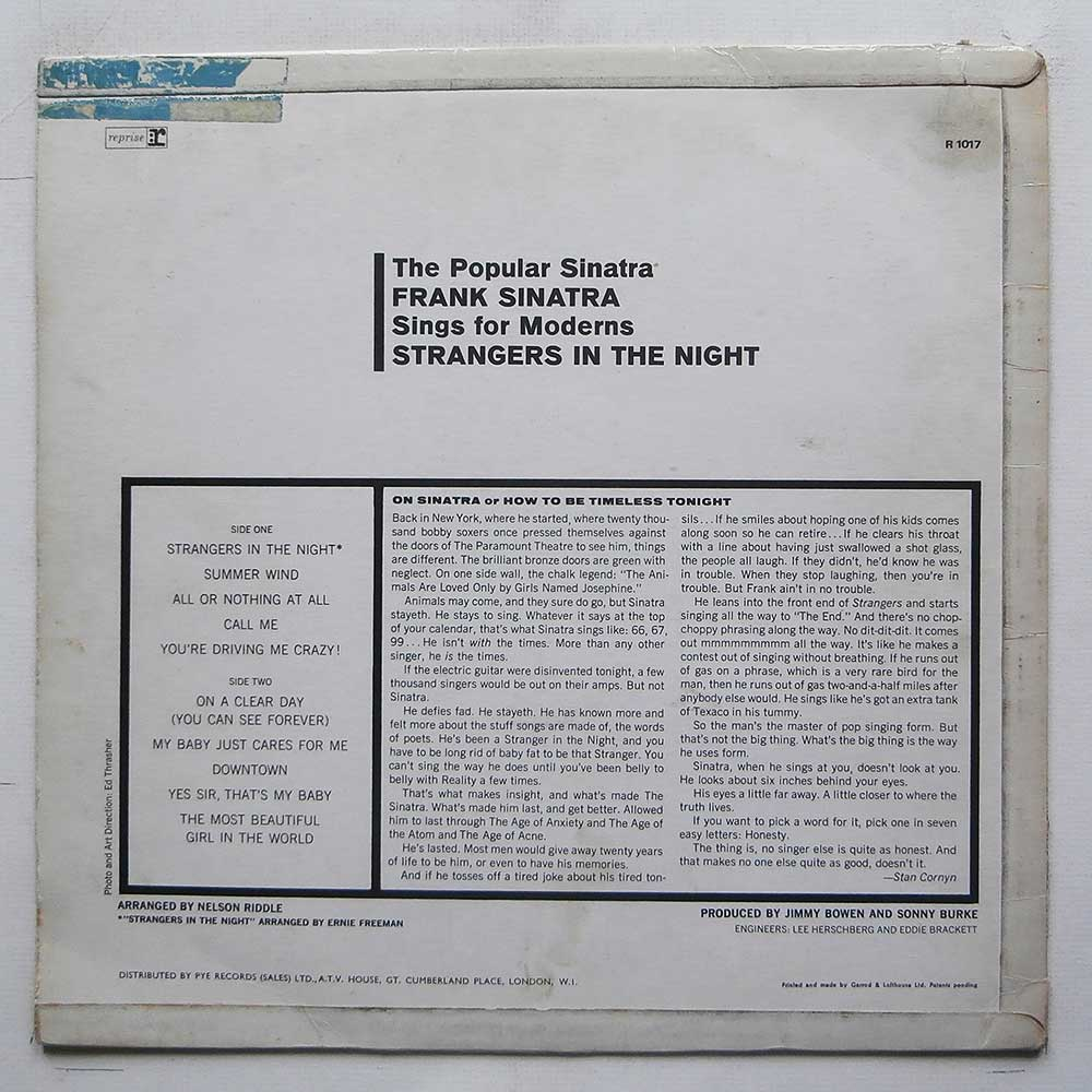 Frank Sinatra - Strangers In The Night (R 1017)