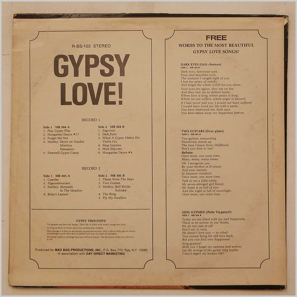 Various - Gypsy Love (R-BS-103)