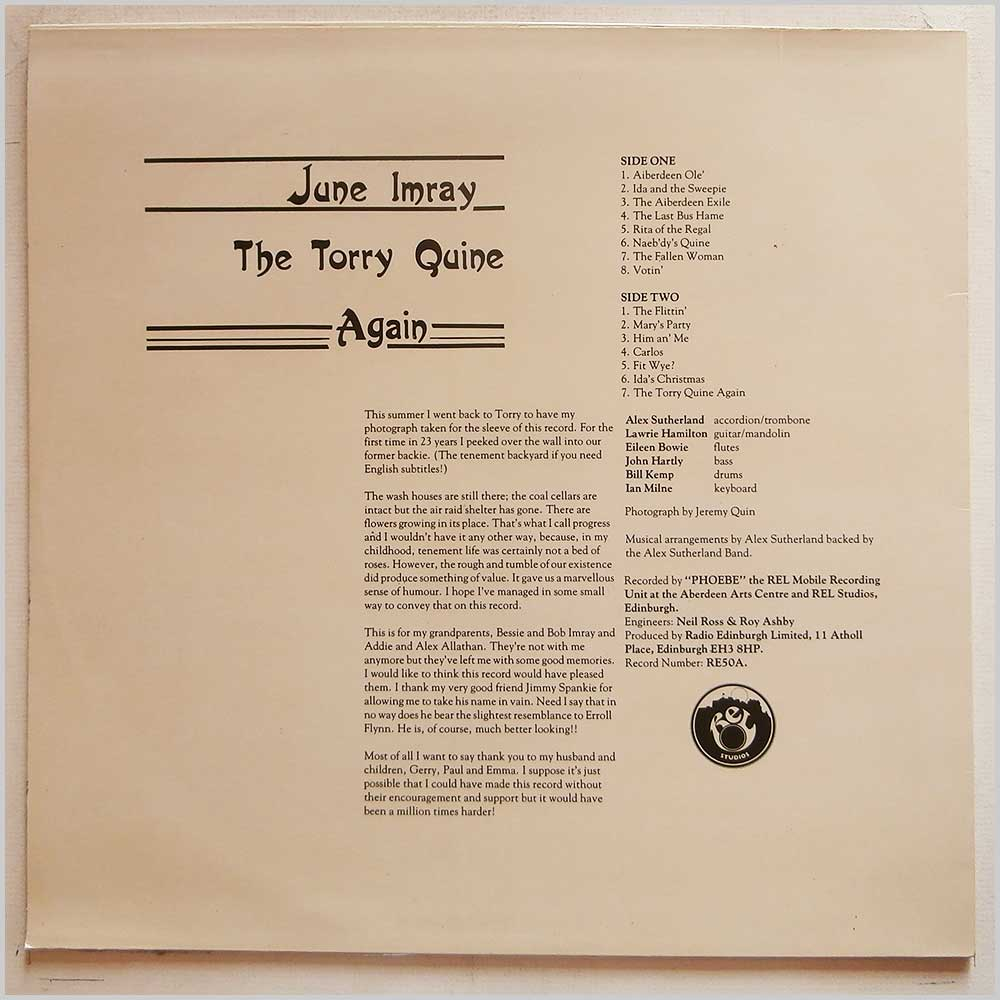 June Imray - The Torry Quine Again (RE 50A)