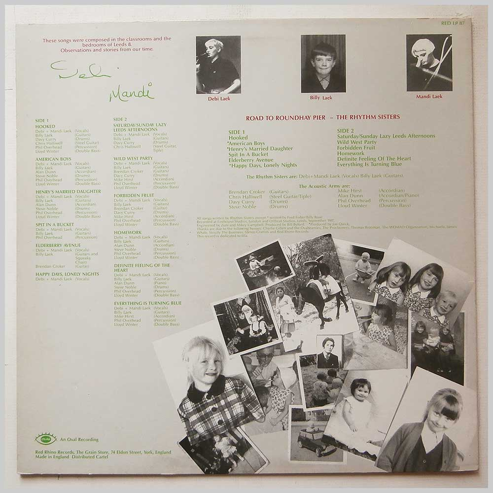 The Rhythm Sisters - Road To Roundhay Pier (RED LP 87)