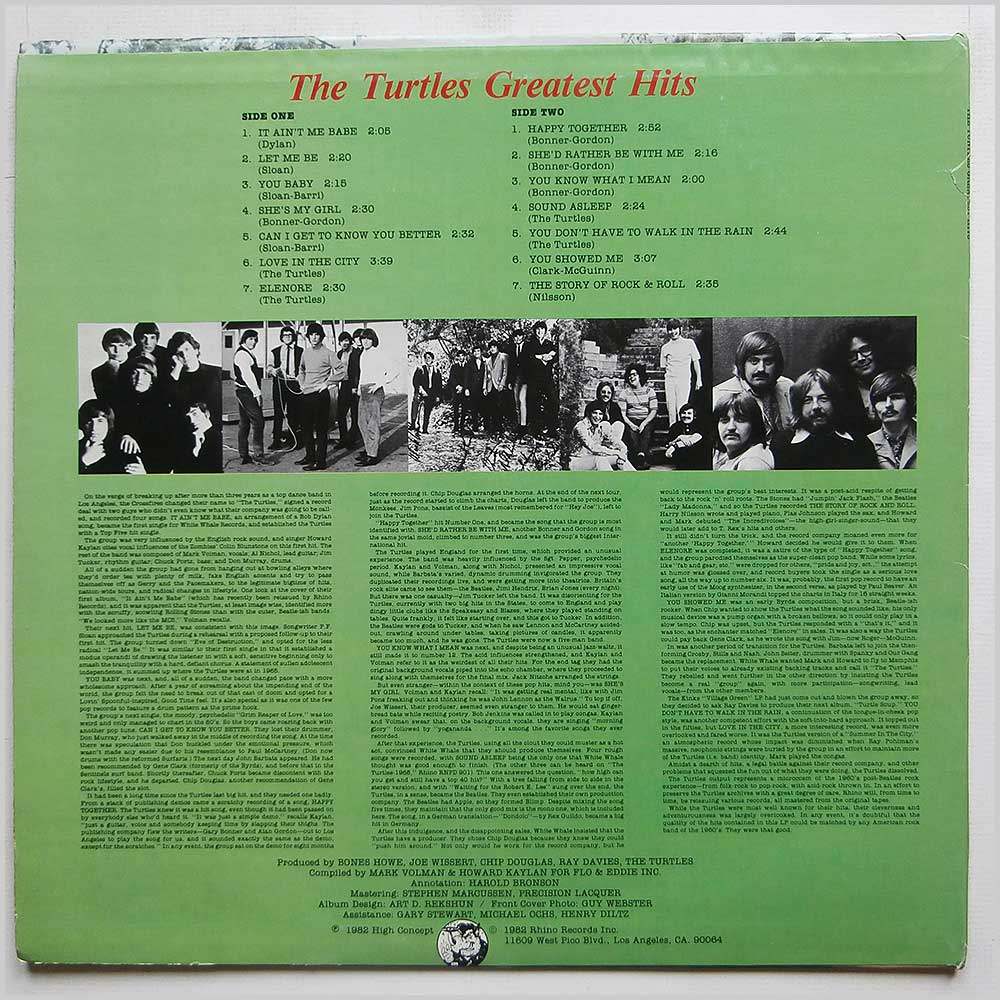 The Turtles - Greatest Hits (RNLP 160)
