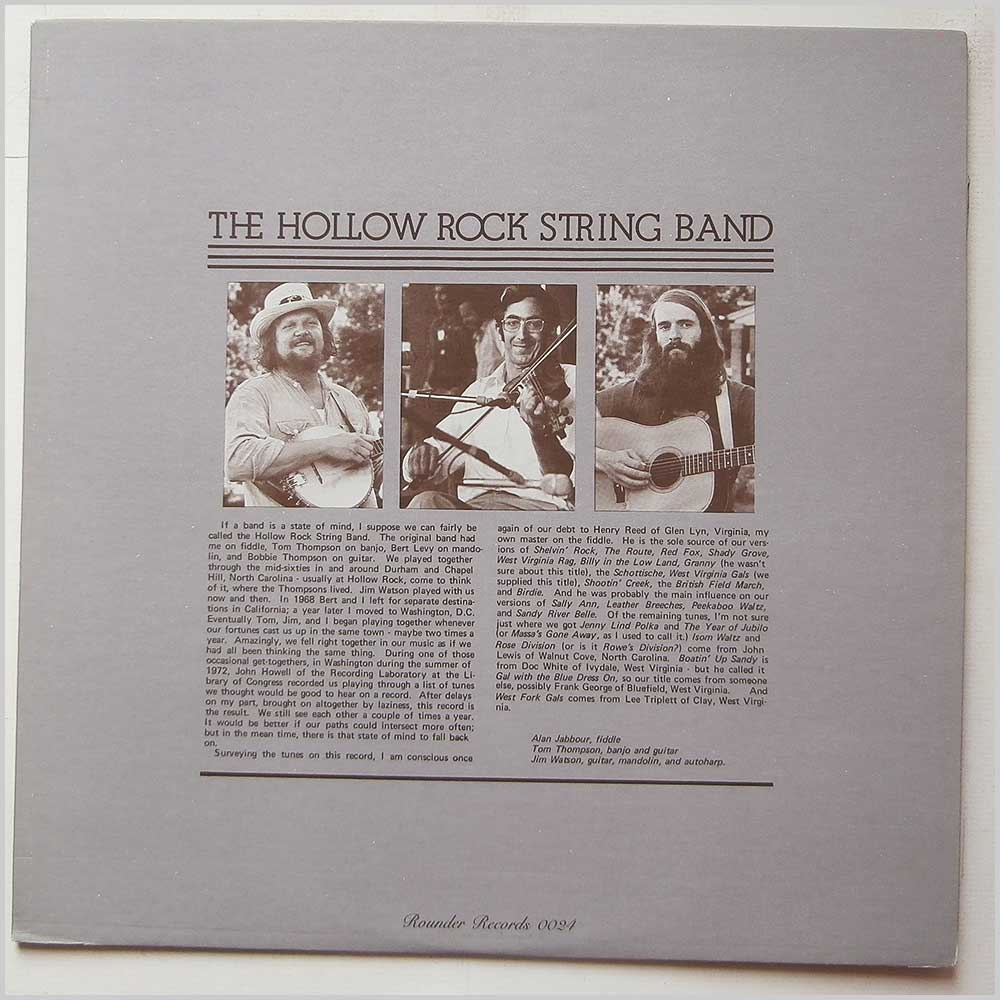 The Hollow Rock String Band - The Hollow Rock String Band (ROUNDER  0024)