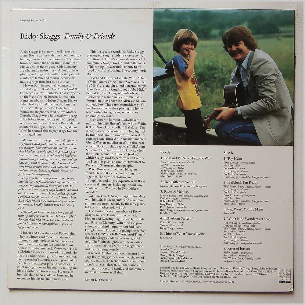 Ricky Skaggs - Family And Friends (ROUNDER  0151)
