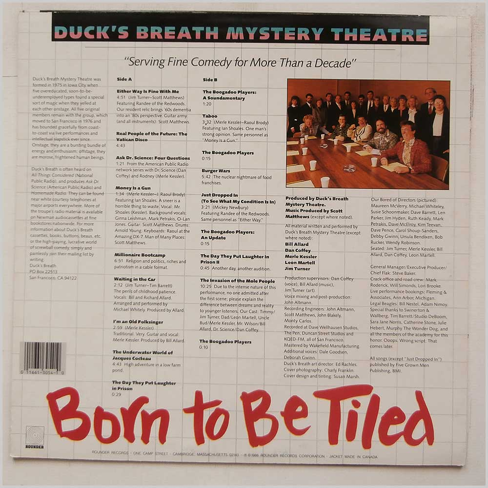 Duck's Breath Mystery Theatre - Born To Be Tiled (ROUNDER  3054)