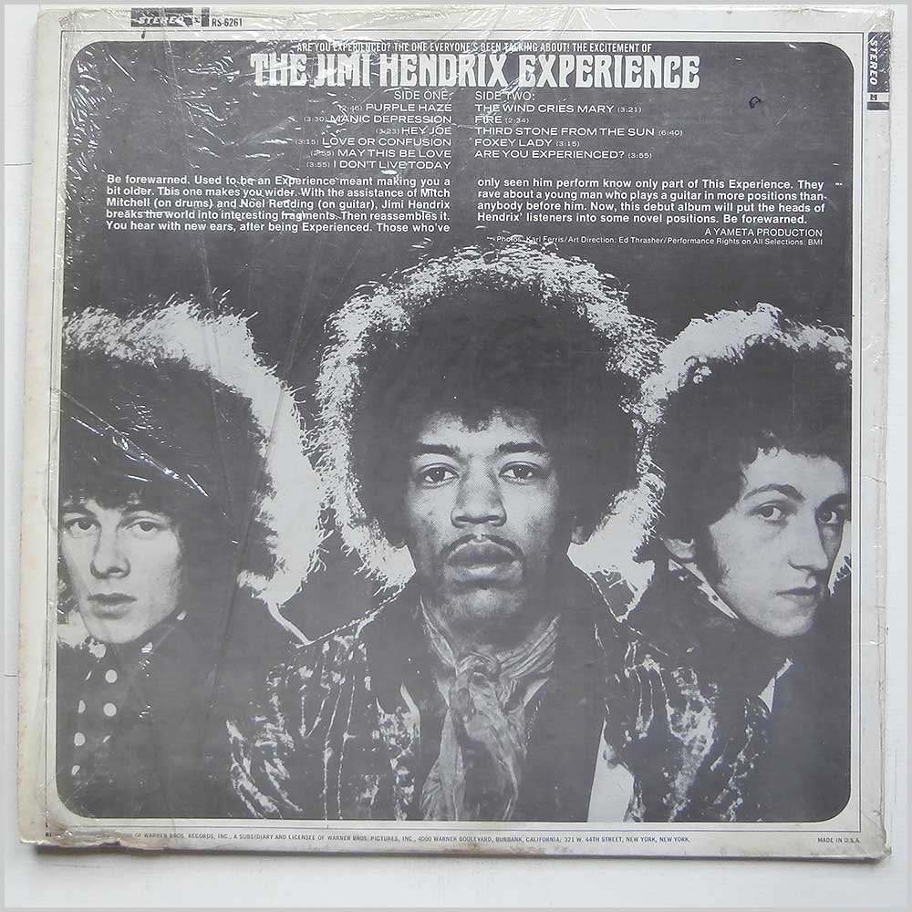 The Jimi Hendrix Experience - Are You Experienced (RS 6261)