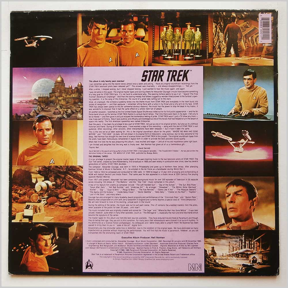 Alexander Courage - Star Trek Original TV Soundtrack: The Cage and Where No Man Has Gone Before (S125001)