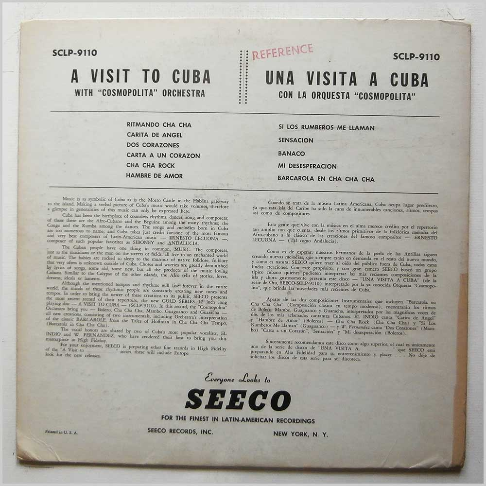Cosmopolita Orchestra - A Visit To Cuba With Cosmopolita Orchestra (SCLP-9110)