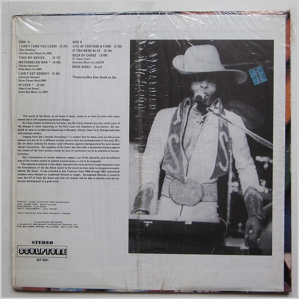 Sly Stone - Sly Stone Recorded In San Francisco:1964-1967 (SCP-2001)