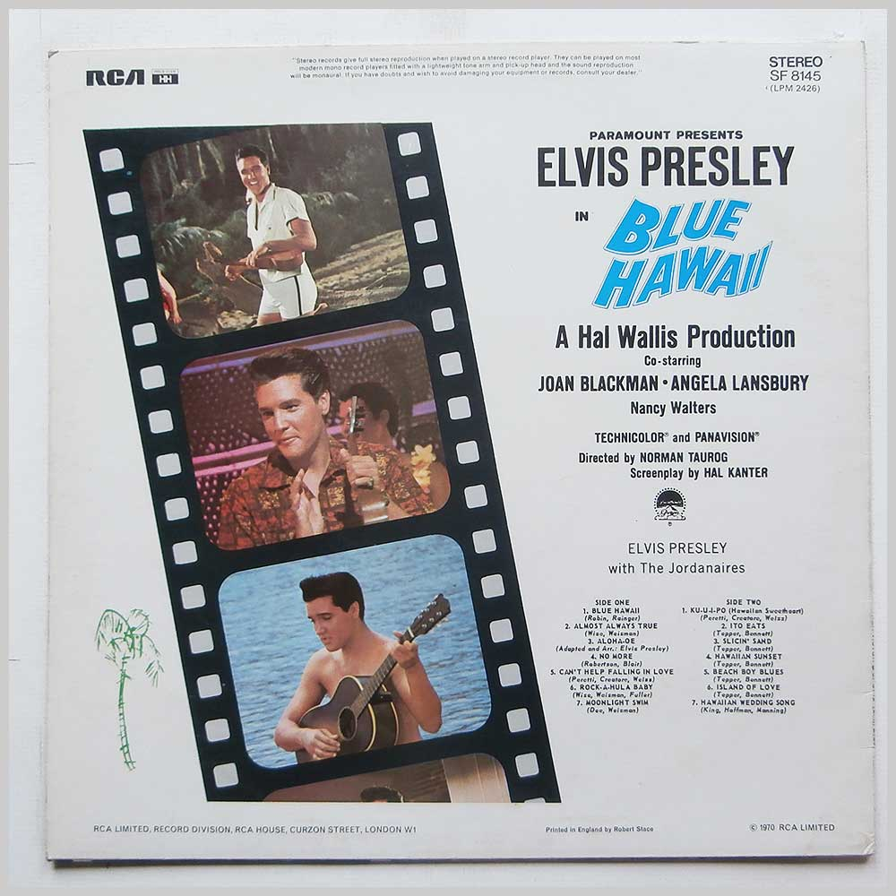 Elvis Presley - Blue Hawaii (SE 8145)