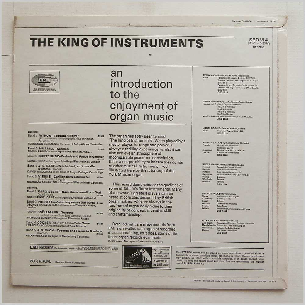 Nicholas Danby - The King Of Instruments (SEOM 4)