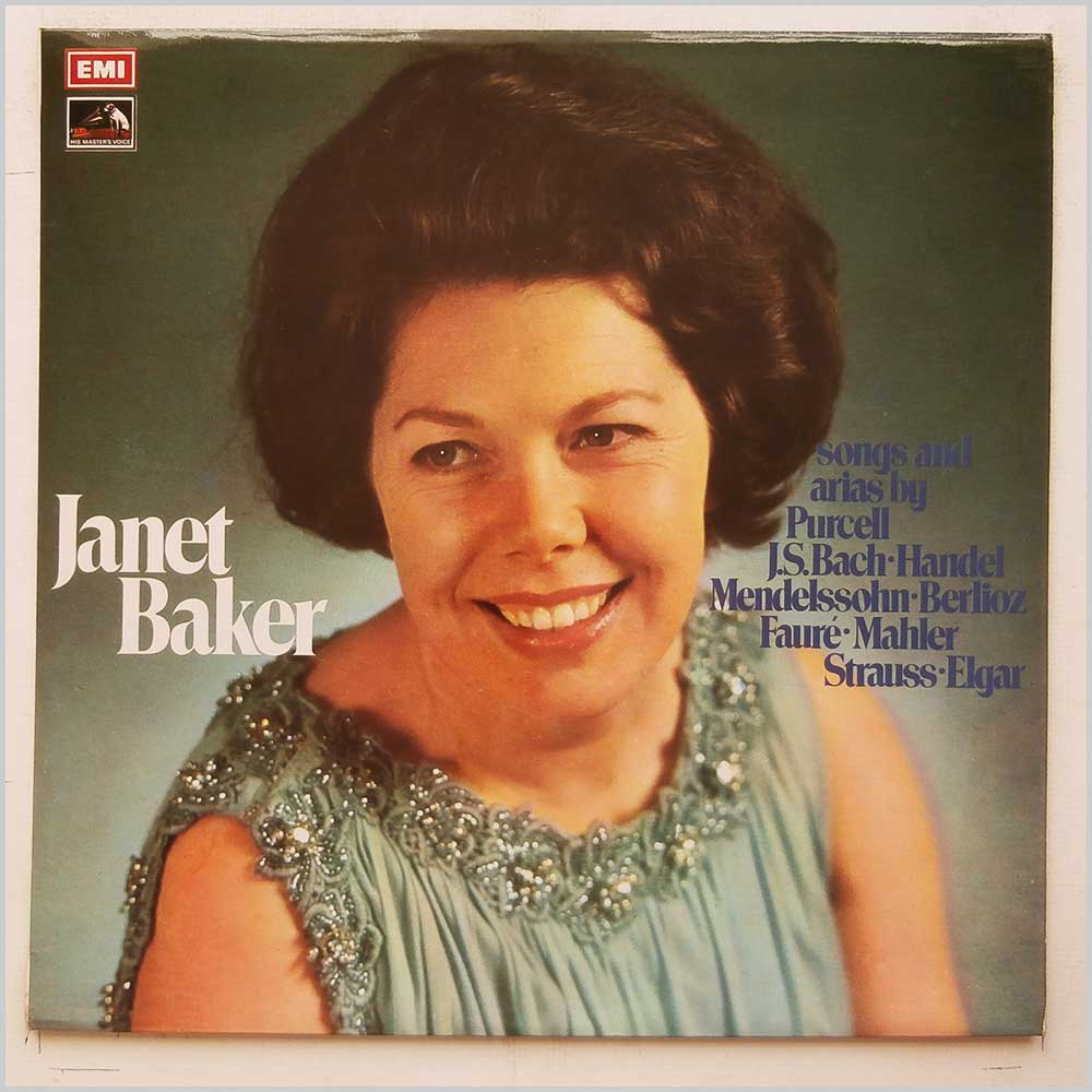 Janet Baker - Songs and Arias by Purcell, J.S. Bach, Handel, Mendelssohn, Berlioz, Faure, Mahler, Strauss and Elgar (SEOM 8)