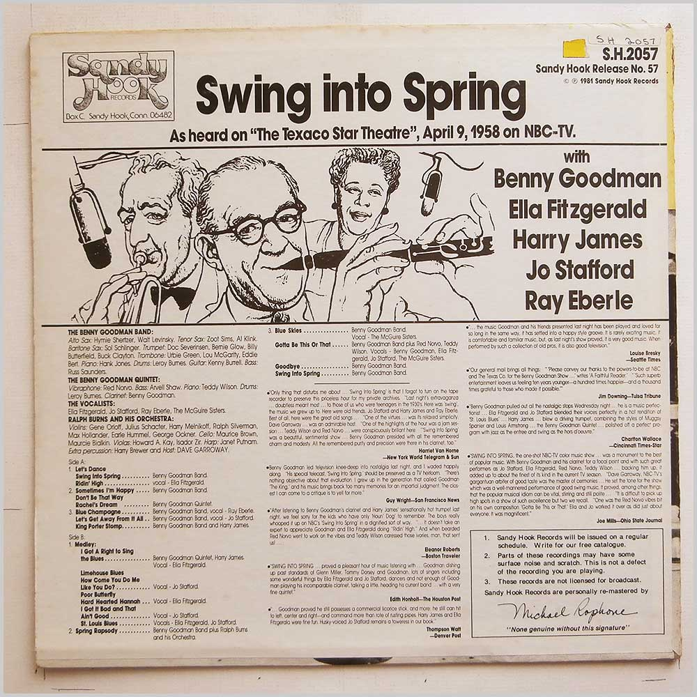 Benny Goodman, Ella Fitzgerald - Swing Into Spring (S.H.2057)