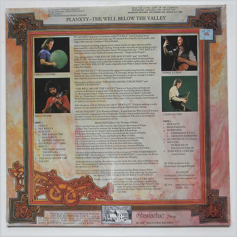 Planxty - The Well Below The Valley (SHANACHIE 79010)