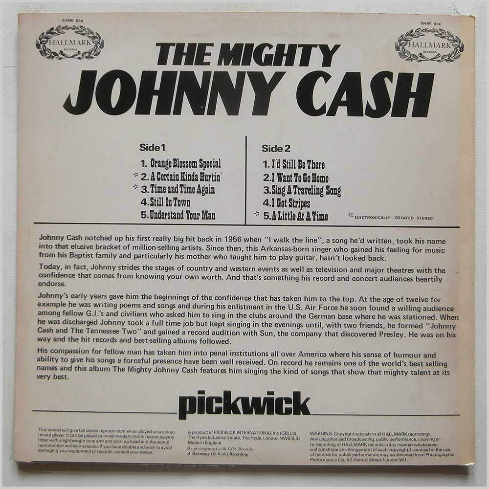 Johnny Cash - The Mighty Johnny Cash (SHM 804)