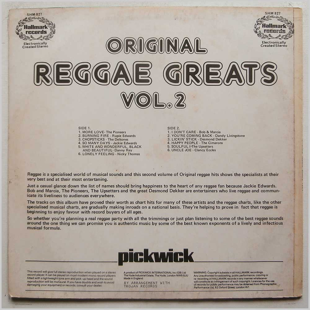 Various - Original Reggae Greats Vol.2 (SHM 827)