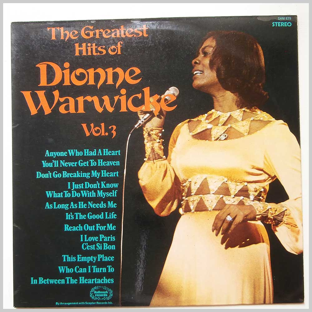 Dionne Warwicke - The Greatest Hits Of Dionne Warwicke Vol.3 (SHM 829)