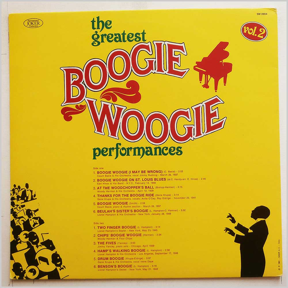 Various - The Greatest Boogie Woogie Performances-Vol.2 (SM 3904)