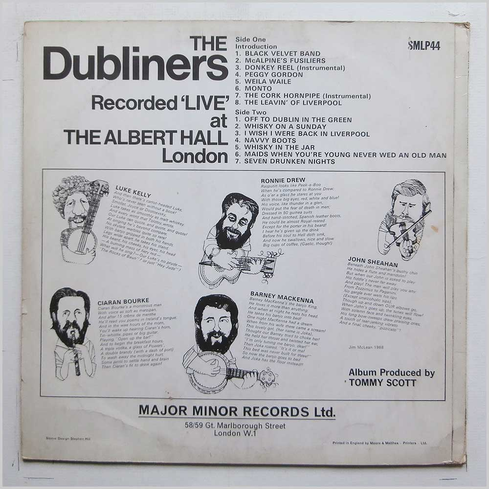 The Dubliners - The Dubliners Live At The Albert Hall (SMLP 44)