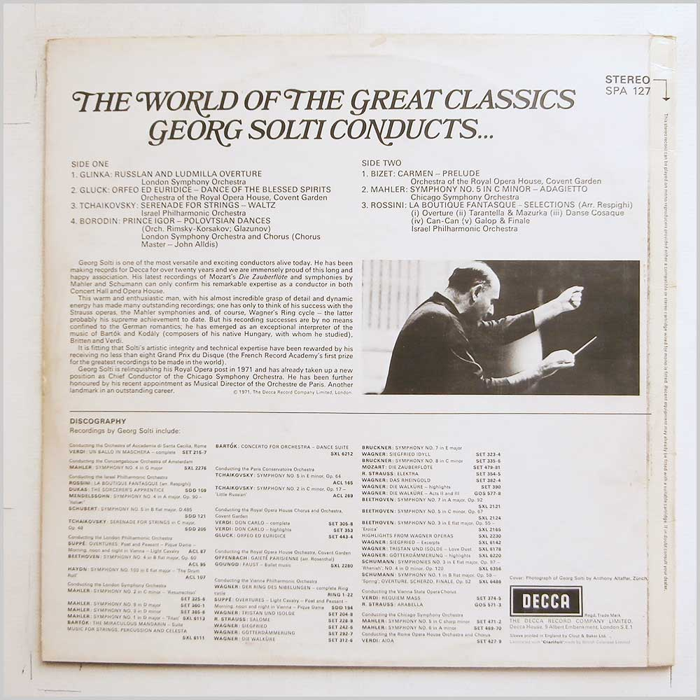Georg Solti - The World Of The Great Classics: Georg Solti Conducts (SPA 127)