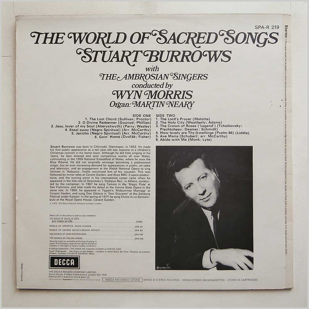Stuart Burrows - The World Of Sacred Songs (SPA-R 219)