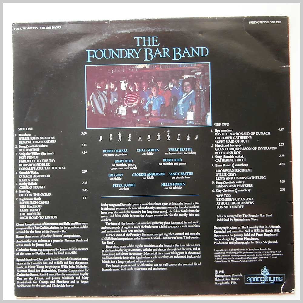The Foundry Bar Band - The Foundry Bar Band (SPR 1007)
