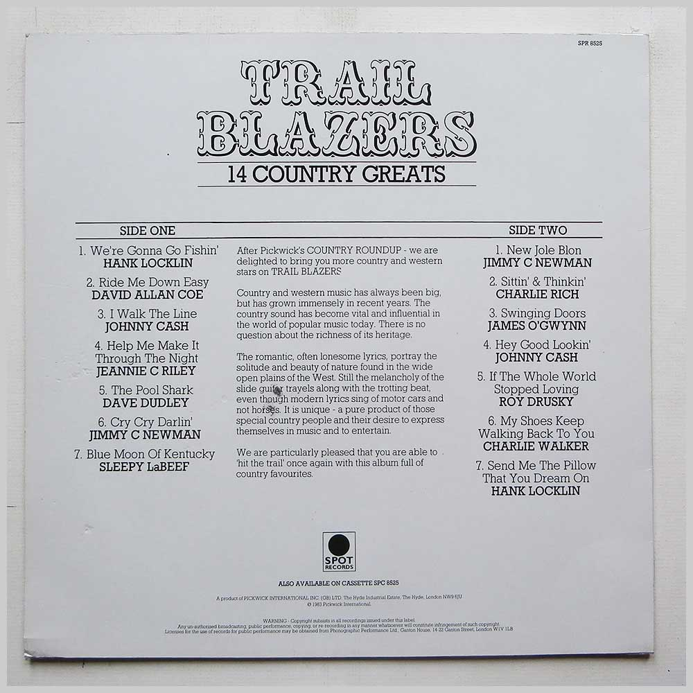 Various - Trail Blazers: 14 Country Greats (SPR 8525)
