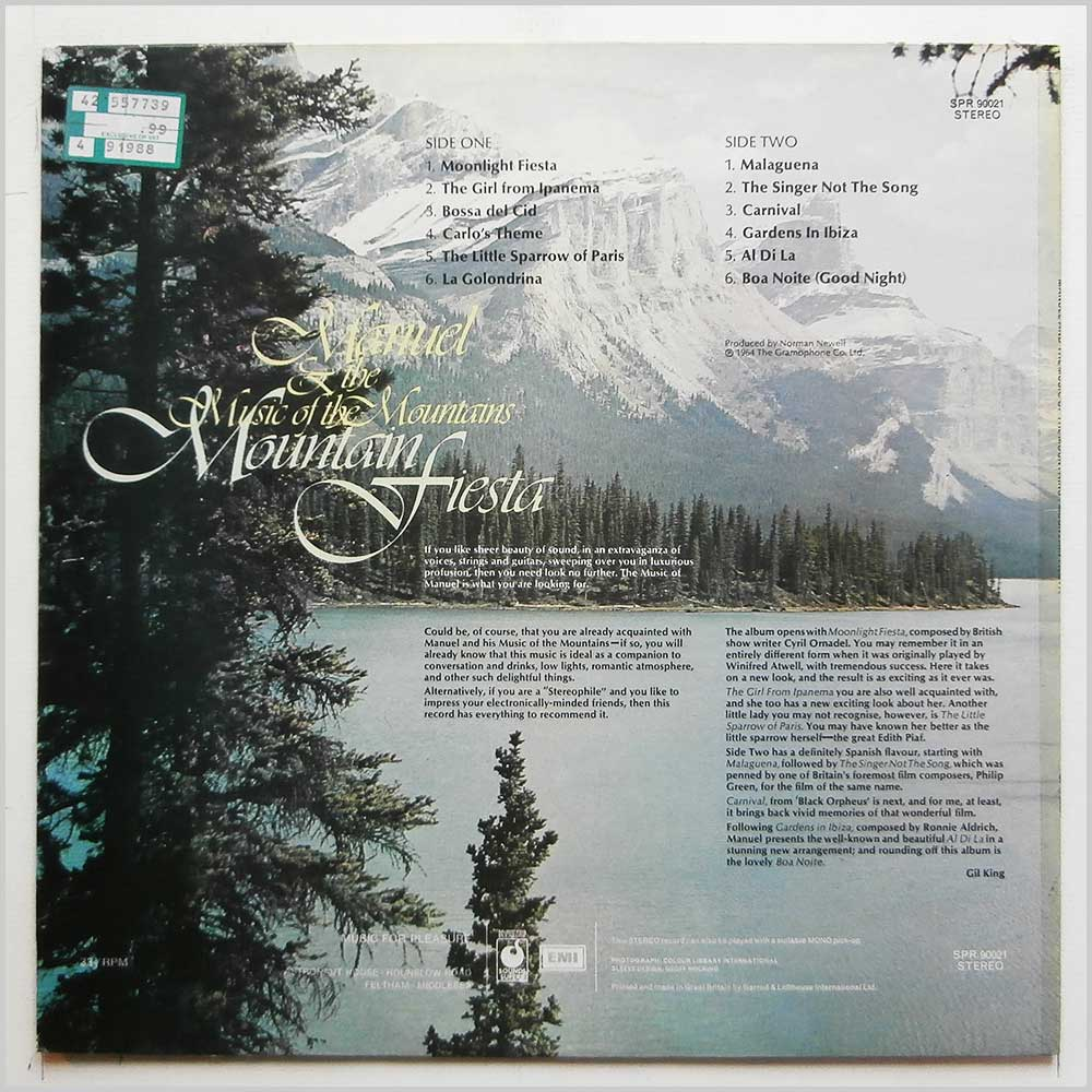 Manuel and The Music Of The Mountains - Mountain Fiesta (SPR 90021)