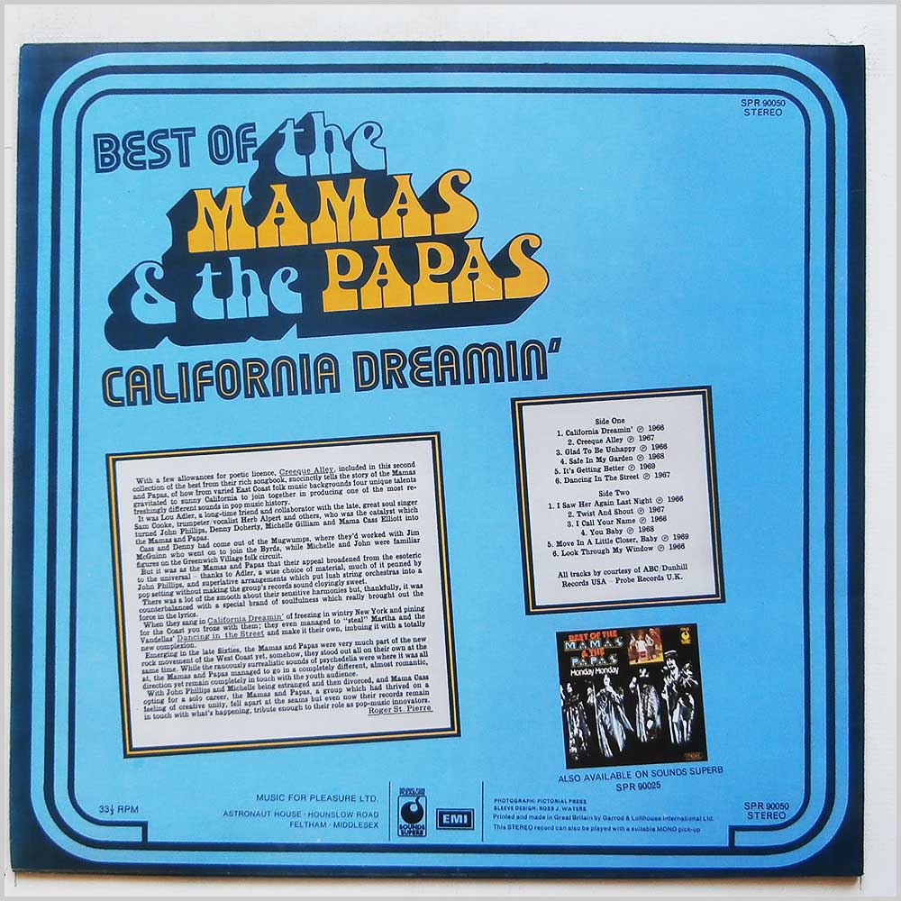 The Mamas and The Papas - California Dreamin (SPR 90050)
