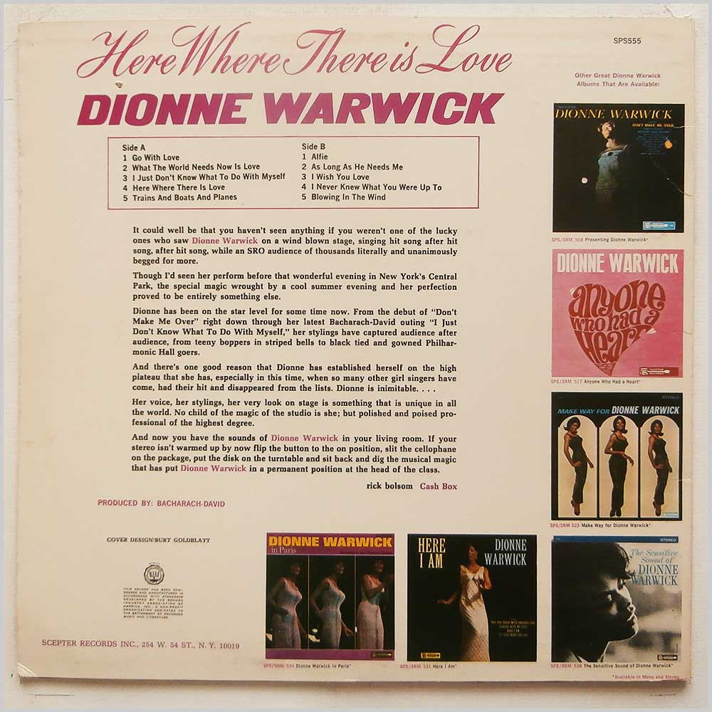 Dionne Warwick - Here, Where There Is Love (SPS555)