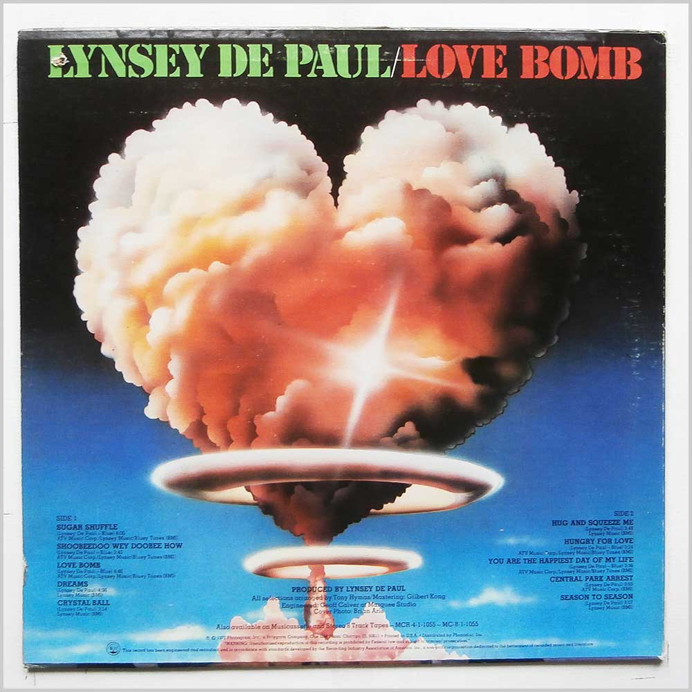 Lynsey De Paul - Love Bomb (SRM-1-1055)